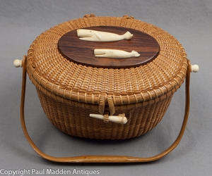 "1966 Nantucket Lightship ""Cocktail"" Basket by Jose Formosa Reyes"