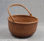 19th C. Nantucket Lightship Basket by Davis Hall