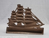 Antique Cast Iron Clipper Ship Doorstop by National Foundry