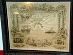 Antique English Maritime Diploma issued to Duke of Norfolk 1891