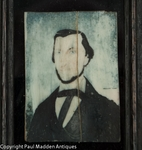Antique Folk Art Portrait Miniature