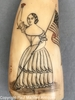 Antique Scrimshaw Sperm Whale Tooth with Lady Liberty