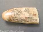 Antique Sperm Whale Tooth with Battle of Trafalgar Scene