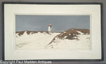 Nantucket Brant Point Lighthouse in Winter by John Austin