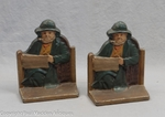 Rare Painted Cape Cod Fisherman Bookends 1928