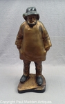 """Vintage 15"""" Old Salt Doorstop with Rare Gold Finish by Eastern Specialty"""