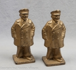 Vintage Cast Iron Sea Captain Bookends