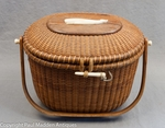 Vintage Nantucket Lightship Basket by Stanley Roop 1968