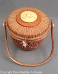 Vintage Nantucket Lightship Basket Purse by Farnum 1979