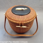 Vintage Nantucket Lightship Basket Purse by Jose Formosa Reyes