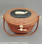 Vintage Nantucket Lightship Basket Purse by Jose Formosa Reyes 1960