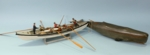 Vintage Nantucket Whaling Scene Model