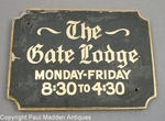 Vintage Oyster Harbors Gate Lodge Sign