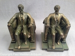 Vintage Pair of DC French Lincoln Memorial Bookends by Jennings Bros