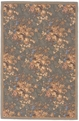 Allure Bouquet M07 Sage Hand Hooked Wool & Silk MER Rugs