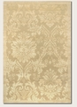 Antique Damask Gold Ivory 8064/0264 Impressions Area Rug by Couristan