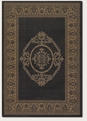 Couristan Medallion Black Cocoa 1078/3115 Recife Rug