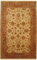 Antiquities AN01 Gold / Burgundy Hand Knotted 100% Wool MER Rugs