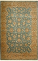 Antiquities AN06 Blue / Gold Hand Knotted 100% Wool MER Rugs