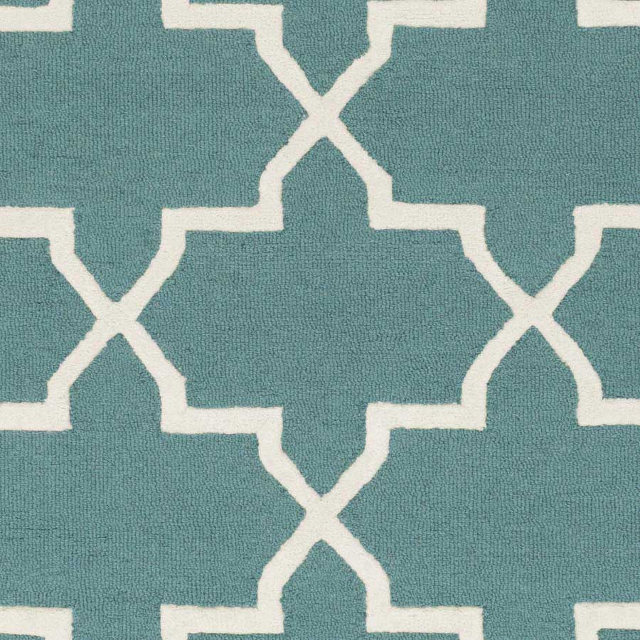 Artistic Weavers Pollack Keely AWDN2027 Teal White Area Rug Payless Rugs Po