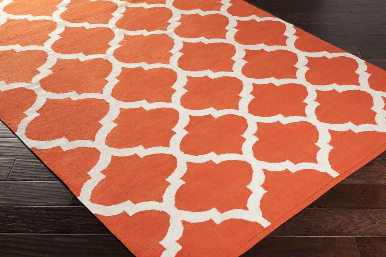 weavers vogue everly awlt3007 coral white area rug payless rugs