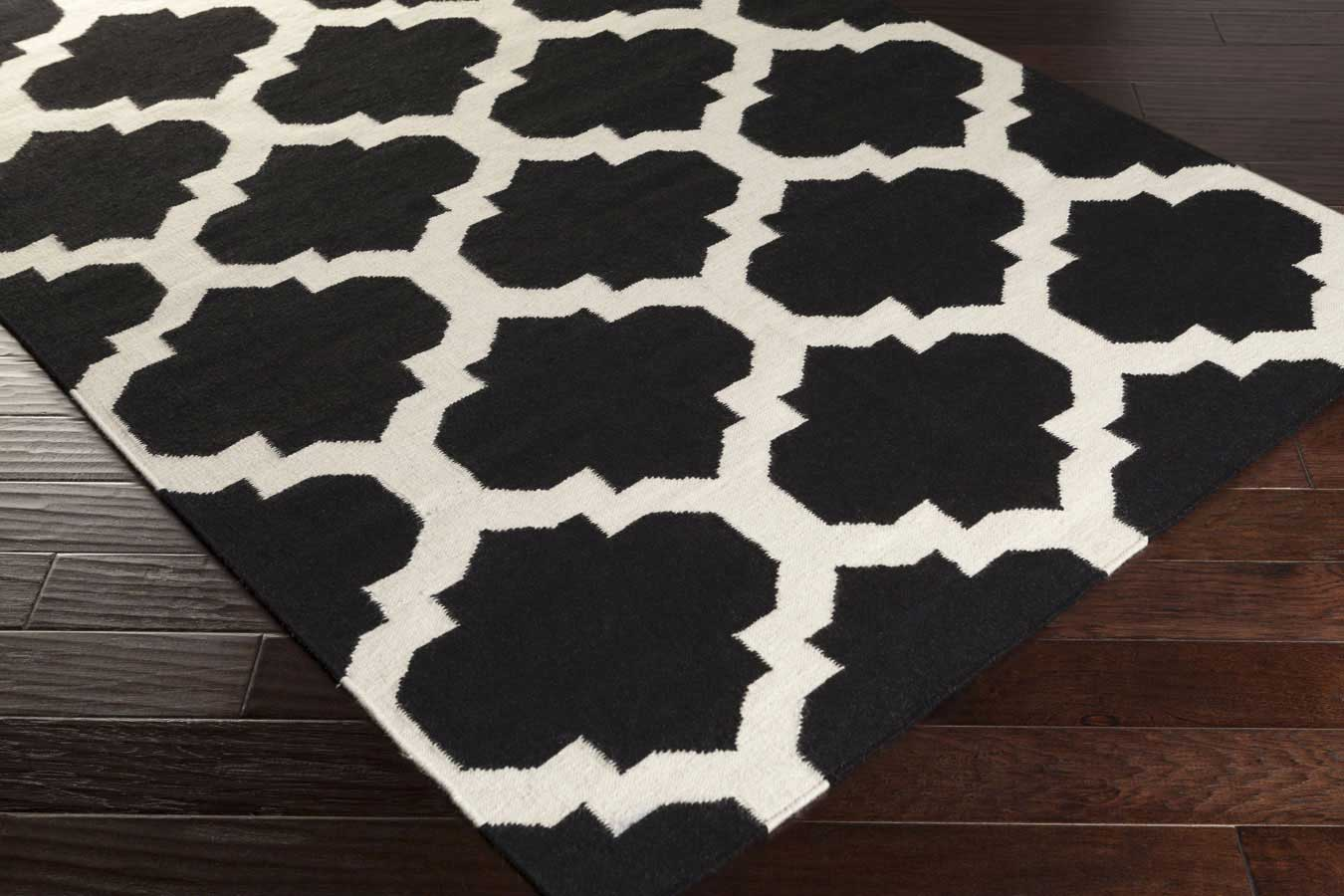 Beautiful Black And White Area Rugs 9F17