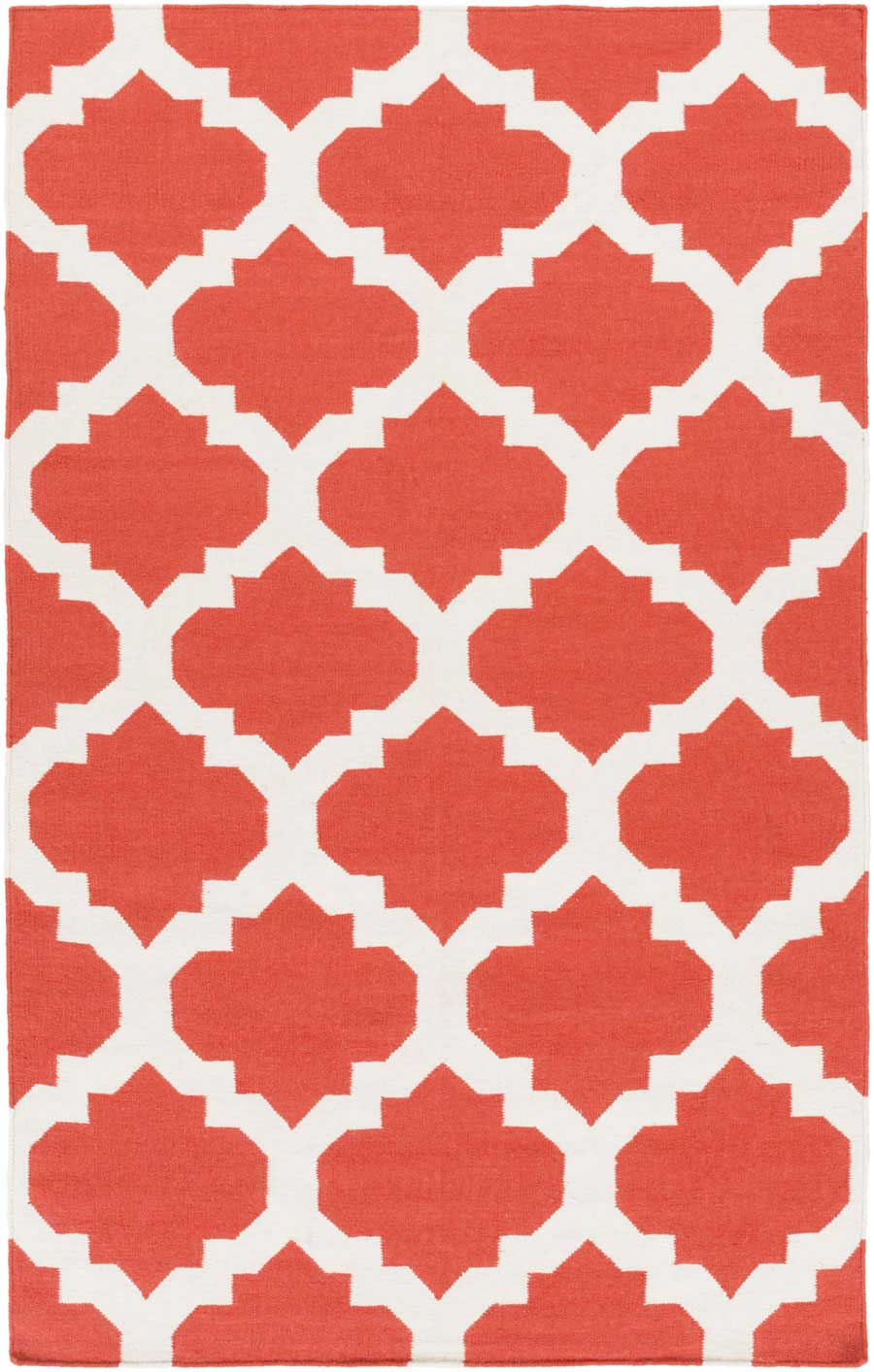 Weavers York Harlow AWHD1030 Coral White Area Rug Payless Rugs