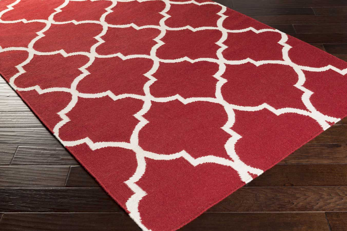 White Area Rug Quatrefoil Area Rug 8x10 Red And White