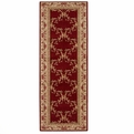 Ashton House <br>AS07 Burgundy <br>Machine Loomed <br>100% Wool <br>Nourison Rugs