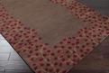 Athena ATH-5003 Chocolate Gold Area Rug by Surya