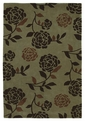 Bali 2815 Sage Floral Silhouette Visions Area Rug by Kas