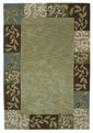 Bali 2829 Sage Damask Border Area Rug by Kas