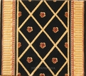 Barcelona BR03 Black European Carpet Stair Runner