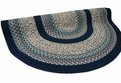 Beantown 1806-21 Boston Harbor Blue Braided Area Rug by Thorndike Mills