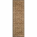 Belmont BE-02 Brown Machine Made Power-Loomed Polypropylene Momeni Rugs