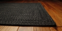 Black Outdurable Outdoor Area Rug by Homespice