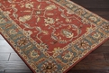 Caesar CAE-1007 Rust Red Kerry Blue Area Rug by Surya