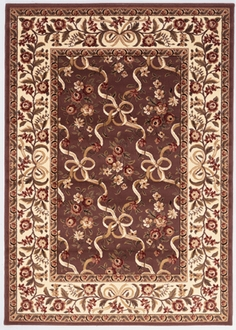 Cambridge 7311 Plum/Ivory Area Rug by Kas