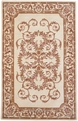 Charlemagne Coordinates Aubusson 8601 Cream Hand Tufted Hand Carved 100% Wool MER Rugs
