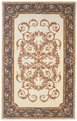 Charlemagne Coordinates <br>Aubusson <br>8610 Cream Blue <br>Hand Tufted <br>Hand Carved <br>100% Wool<br>MER Rugs