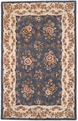 Charlemagne Coordinates Floral 8615 Blue Cream Hand Tufted Hand Carved 100% Wool MER Rugs