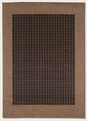 Checkered Field Black Cocoa 1005/2000 Recife Outdoor Area Rug by Couristan