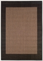 Checkered Field Cocoa Black 1005/2500 Recife Outdoor Area Rug by Couristan