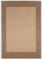 Checkered Field Natural Cocoa 1005/3000 Recife Outdoor Area Rug by Couristan