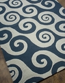 Coastal Living Wave Hello CI-04 Dark Blue Outdoor Area Rug by Jaipur
