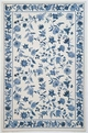 Colonial Floral 1727 Ivory / Blue Area Rug by Kas
