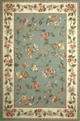 Colonial Floral 1728 Slate Blue / Ivory Area Rug by Kas