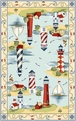 Colonial Lakehouse Views 1800 Light Blue Area Rug by Kas