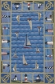 Colonial Lighthouses 1335 Blue Area Rug by Kas