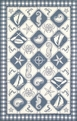 Colonial Nautical Panel 1807 Blue / Ivory Area Rug by Kas